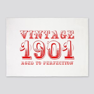 VINTAGE 1901 aged to perfection-red 400 5'x7'Area