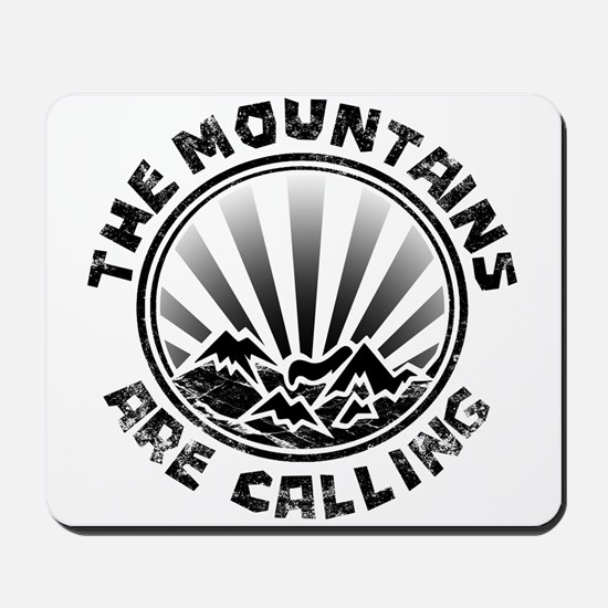 The Mountains are Calling. Mousepad