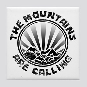 The Mountains are Calling. Tile Coaster