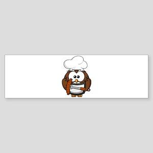 Owl Grill Bumper Sticker