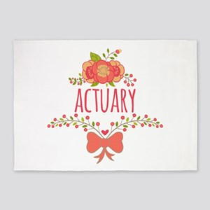 Cute Floral Gifts For Actuarists 5'x7'Area Rug