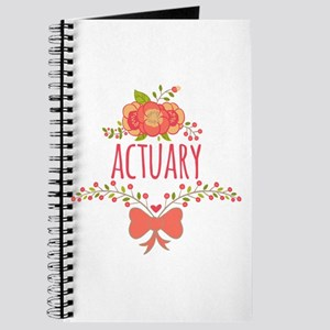 Cute Floral Gifts For Actuarists Journal