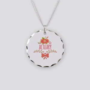 Cute Floral Gifts For Actuar Necklace Circle Charm