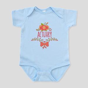 Cute Floral Gifts For Actuarists Infant Bodysuit