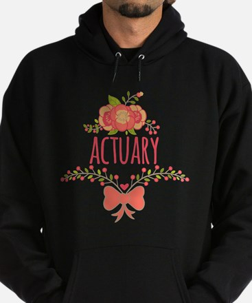 Cute Floral Gifts For Actuarists Hoodie (dark)