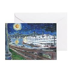 Mississippi River Boat Note Cards