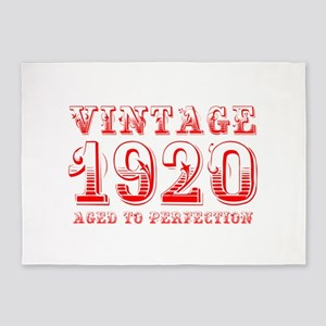 VINTAGE 1920 aged to perfection-red 400 5'x7'Area