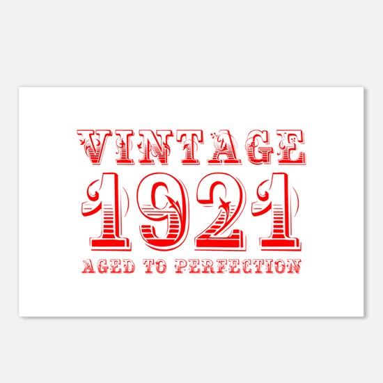 VINTAGE 1921 aged to perfection-red 400 Postcards