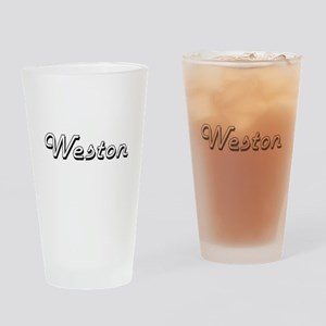 Weston Classic Style Name Drinking Glass