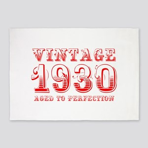 VINTAGE 1930 aged to perfection-red 400 5'x7'Area