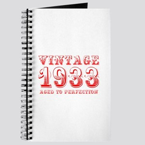 VINTAGE 1933 aged to perfection-red 400 Journal