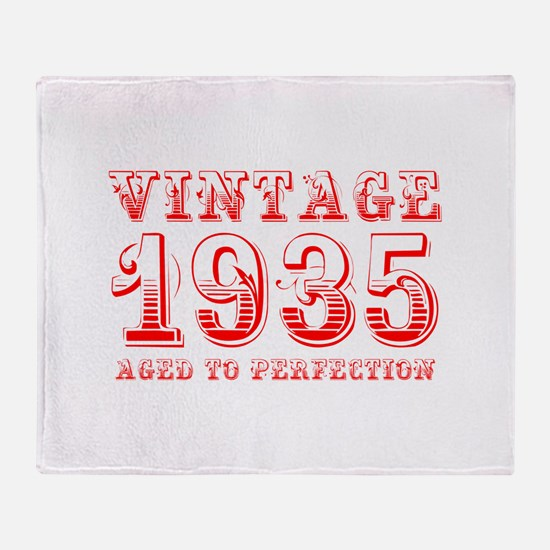 VINTAGE 1935 aged to perfection-red 400 Throw Blan