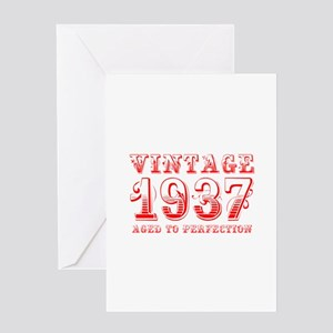 VINTAGE 1937 aged to perfection-red 400 Greeting C