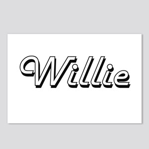 Willie Classic Style Name Postcards (Package of 8)