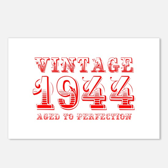 VINTAGE 1944 aged to perfection-red 400 Postcards