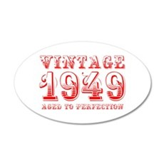 VINTAGE 1949 aged to perfection-red 400 Wall Decal