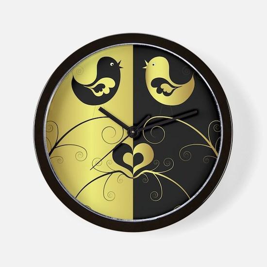 Birds Love Wall Clock
