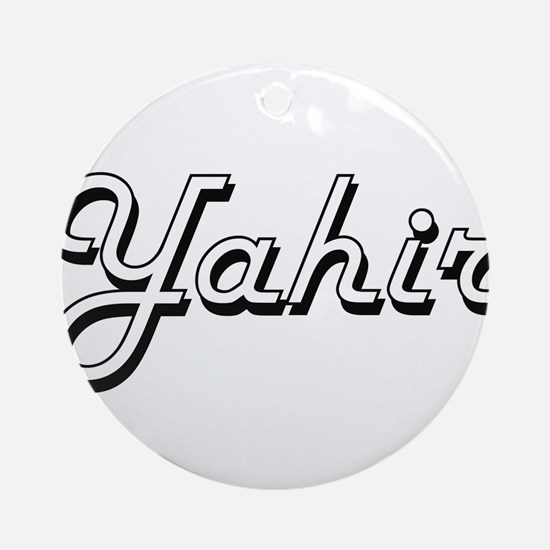 Yahir Classic Style Name Ornament (Round)