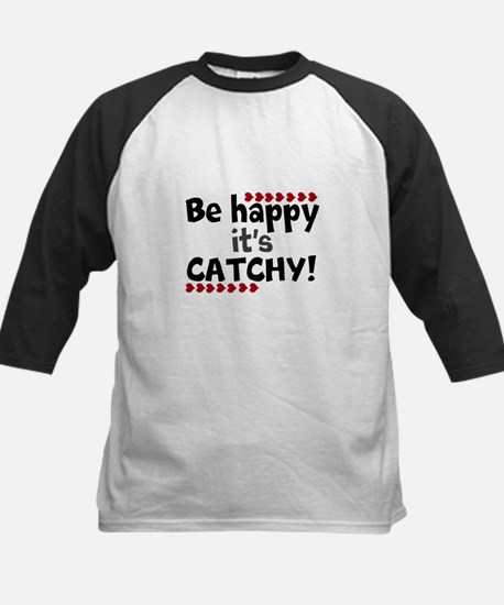 BE HAPPY Positive Thinking Quote Baseball Jersey