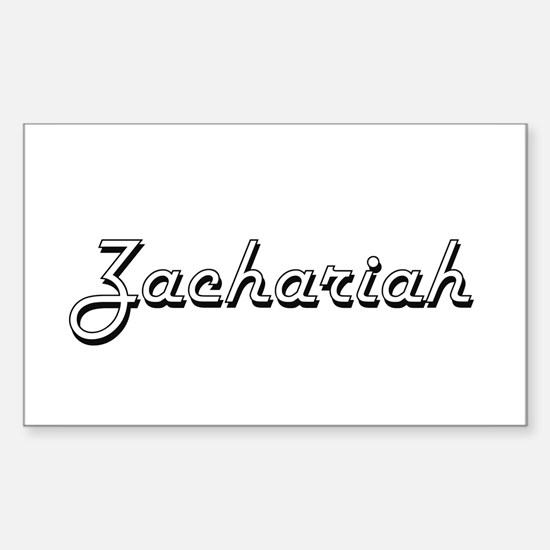 Zachariah Classic Style Name Decal