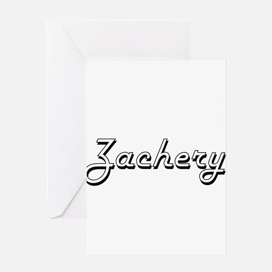 Zachery Classic Style Name Greeting Cards
