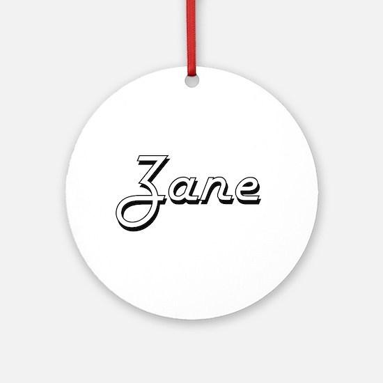 Zane Classic Style Name Ornament (Round)