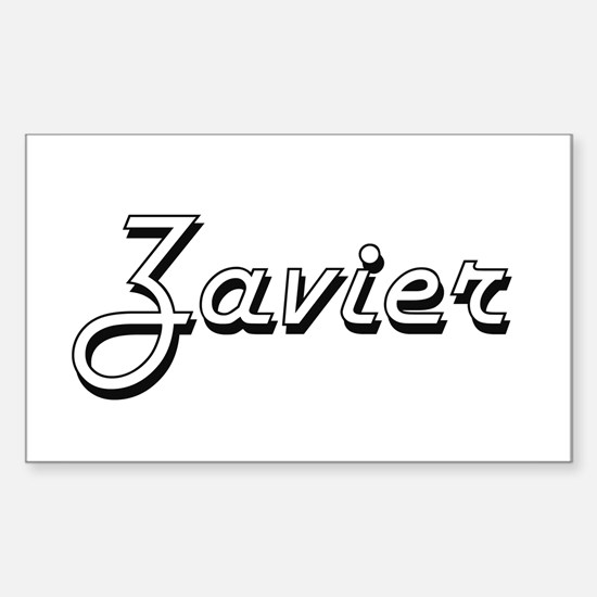 Zavier Classic Style Name Decal