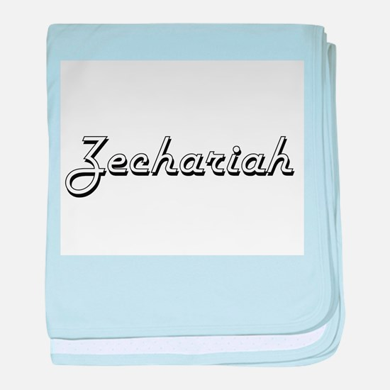 Zechariah Classic Style Name baby blanket