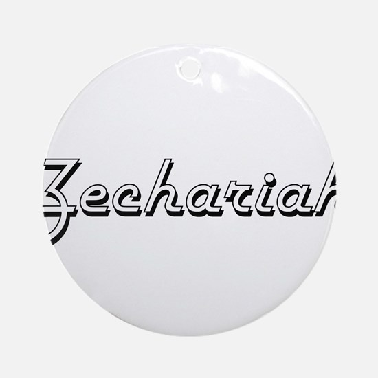 Zechariah Classic Style Name Ornament (Round)
