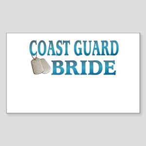 coast guard bride Rectangle Sticker