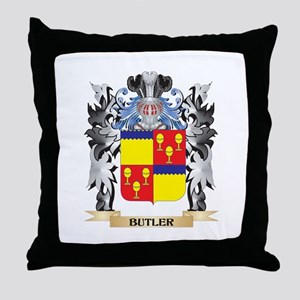 Butler Coat of Arms - Family Crest Throw Pillow