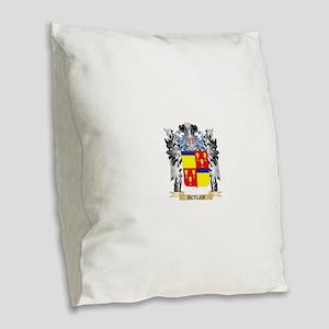Butler Coat of Arms - Family C Burlap Throw Pillow