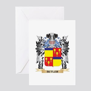 Butler Coat of Arms - Family Crest Greeting Cards