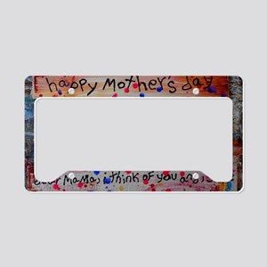 mothers day collage License Plate Holder
