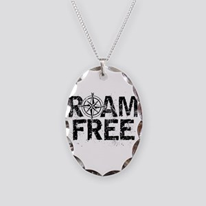 Roam Free. Necklace Oval Charm