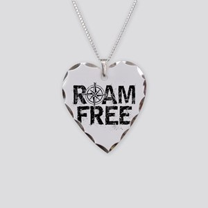 Roam Free. Necklace Heart Charm