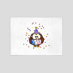 Party Owl Confetti 5'x7'Area Rug