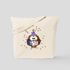 Party Owl Confetti Tote Bag
