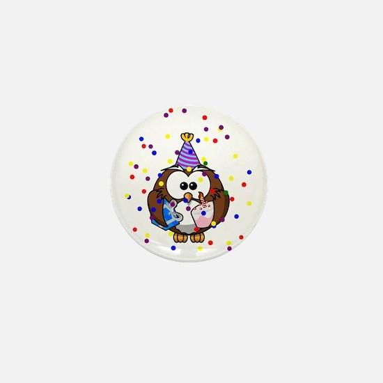 Party Owl Confetti Mini Button
