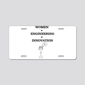 Women + Engineering Aluminum License Plate