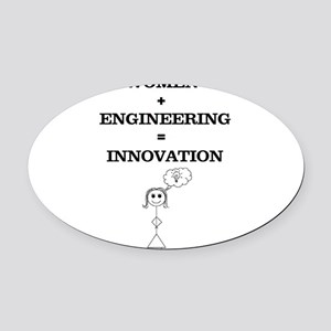 Women + Engineering Oval Car Magnet
