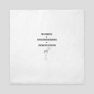 Women + Engineering Queen Duvet