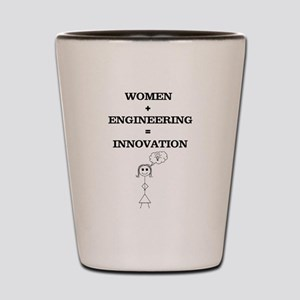 Women + Engineering Shot Glass