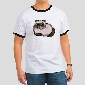 Himalayn Cat Lover Ringer T
