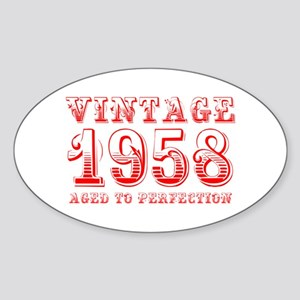 VINTAGE 1958 aged to perfection-red 400 Sticker