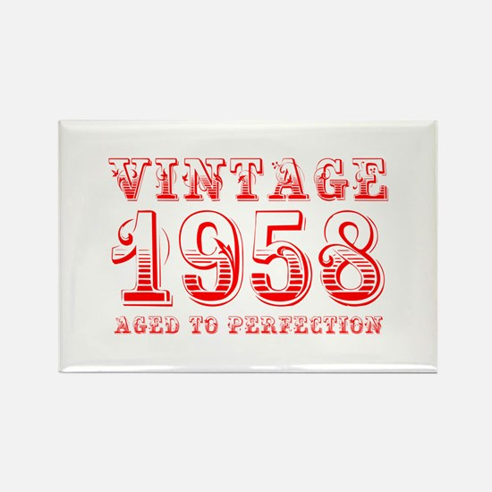VINTAGE 1958 aged to perfection-red 400 Magnets