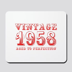 VINTAGE 1958 aged to perfection-red 400 Mousepad