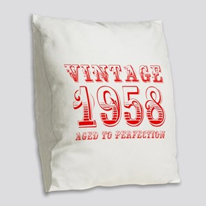 VINTAGE 1958 aged to perfection-red 400 Burlap Thr