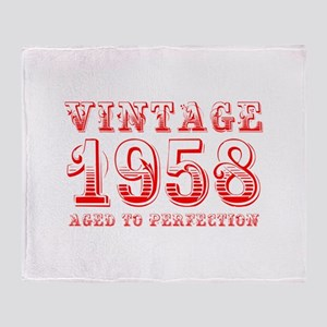 VINTAGE 1958 aged to perfection-red 400 Throw Blan