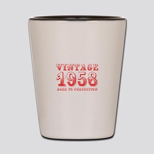 VINTAGE 1958 aged to perfection-red 400 Shot Glass